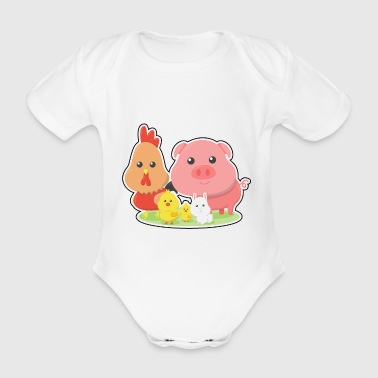 Farm Animal Farm animals gift - Organic Short-sleeved Baby Bodysuit
