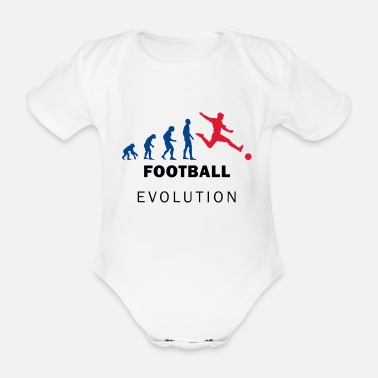 Motion Evolution Football - Organic Short-sleeved Baby Bodysuit