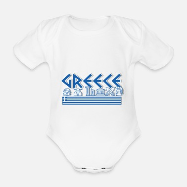 Grecia Grecia - Zeus Greek Mythology Shirt - Body ecologico per neonato a manica corta