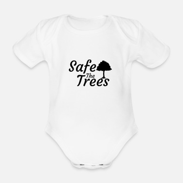 Eco Nature lad protection tree animals mountains gift - Organic Short-sleeved Baby Bodysuit