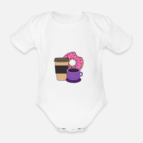 Kaffee Donuts Kuchen Cartoon Geschenk Baby Kurzarmbody Spreadshirt