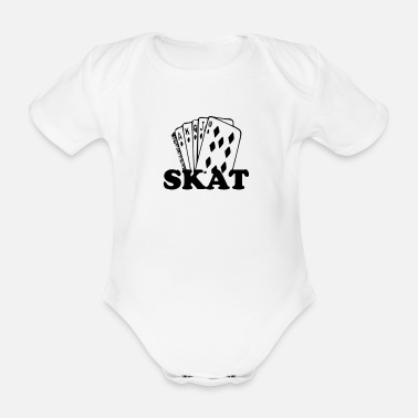 Skat King of Skat playing cards - Organic Short-sleeved Baby Bodysuit