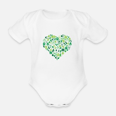 Protection Of The Environment Environment - Environmental Protection - Organic Short-Sleeved Baby Bodysuit
