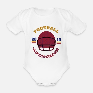 Seattle Football 2019, American Football - Organic Short-Sleeved Baby Bodysuit