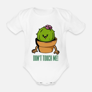 Torn Do not Touch Me Do not touch me - Organic Short-Sleeved Baby Bodysuit