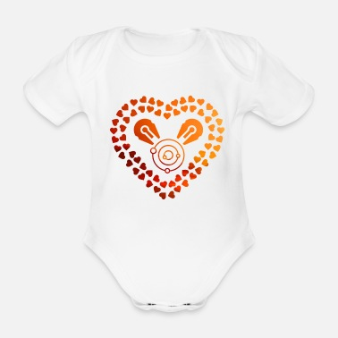 Scifi Love Space and SciFi Evening Sun - Space and SciFi - Baby Bio Kurzarmbody