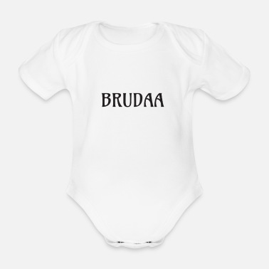 Brudaa - Organic Short-Sleeved Baby Bodysuit