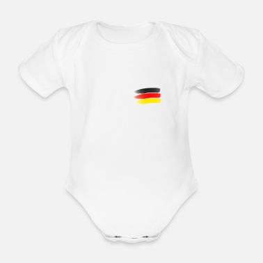 Flag Germany flag flag - Organic Short-Sleeved Baby Bodysuit