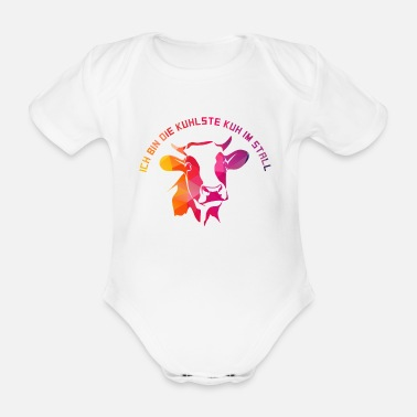 Farming Cow farming farm farmer - Organic Short-Sleeved Baby Bodysuit