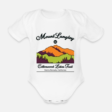 Nevada Usa Cottonwood Lakes Trail - Sierra Nevada - Organic Short-Sleeved Baby Bodysuit