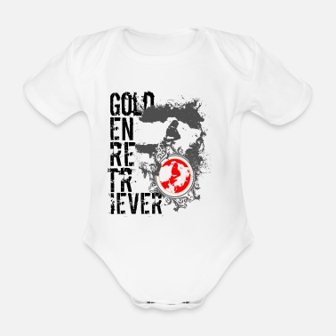Retriever Retriever golden retriever - Organic Short-Sleeved Baby Bodysuit