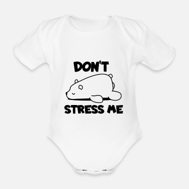 Blizzard chilled polar bear - Organic Short-Sleeved Baby Bodysuit