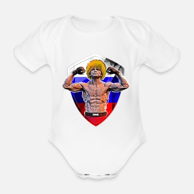 FAMOUS MMA FIGHTER RUSSIAN FLAG GRAPHIC SPORT - Body Bébé bio manches courtes