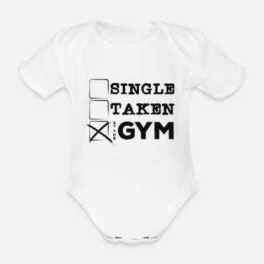 Muscleman Single take at the gym - Organic Short-Sleeved Baby Bodysuit
