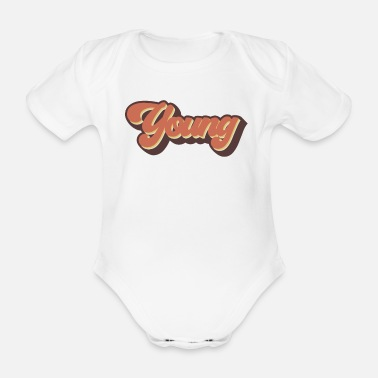 Young Young - Organic Short-Sleeved Baby Bodysuit