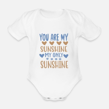 Company You are my - Adventure Design - Organic Short-Sleeved Baby Bodysuit