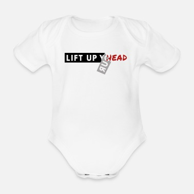 Head head - Organic Short-Sleeved Baby Bodysuit