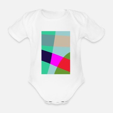 Crook lopsided chaos - Organic Short-Sleeved Baby Bodysuit