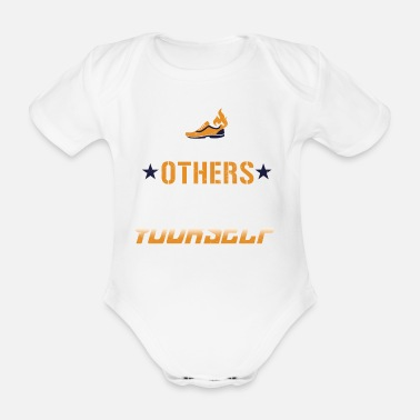 Bright Don't race against others, race against yourself - Organic Short-Sleeved Baby Bodysuit