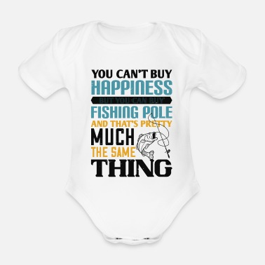 Rod Fish design for fishing and fishing - Organic Short-Sleeved Baby Bodysuit