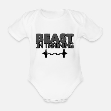 Pumpa Gym Beast in Training Fitness Gift - Ekologisk kortärmad babybody