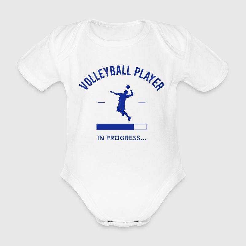 Volleyball Player loading - Baby Bio-Kurzarm-Body