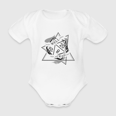 RPG Dice RPG Board Game Nerd Gift - Organic Short-sleeved Baby Bodysuit