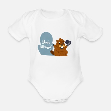 Tradition Funny Murray Marmot Tshirt Holiday Gift - Organic Short-sleeved Baby Bodysuit