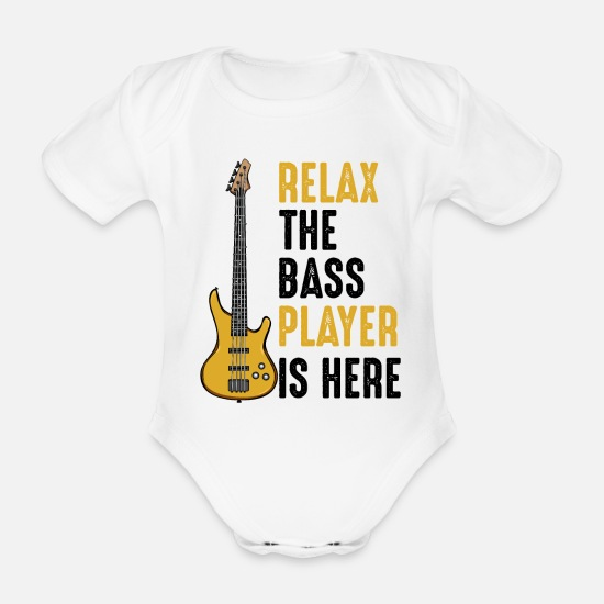 Guitar Player Baby Clothes - guitars - Organic Short-Sleeved Baby Bodysuit white