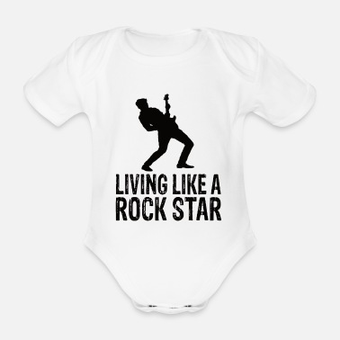 Rock Music Rock music - Organic Short-Sleeved Baby Bodysuit