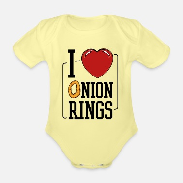 Healthy Onion rings - Organic Short-Sleeved Baby Bodysuit