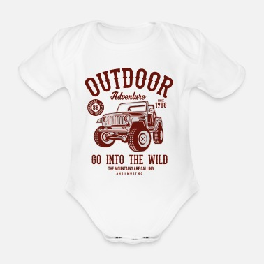 Berg OUTDOOR ADVENTURE JEEP- Offroad & Outdoor Geschenk - Baby Bio Kurzarmbody