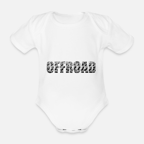 Offroad Vehicles Baby Clothes - Offroad - Organic Short-Sleeved Baby Bodysuit white