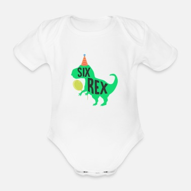 Balloon Children's birthday gift idea 6 children's birthday - Organic Short-Sleeved Baby Bodysuit