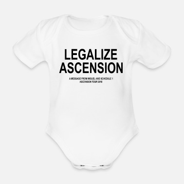 Ascension Legalize Ascension Graphic - Organic Short-Sleeved Baby Bodysuit