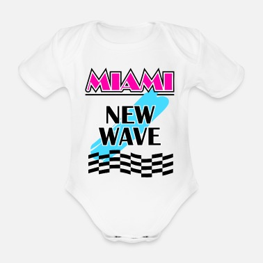 New Wave Miami New Wave Graphic - Organic Short-Sleeved Baby Bodysuit