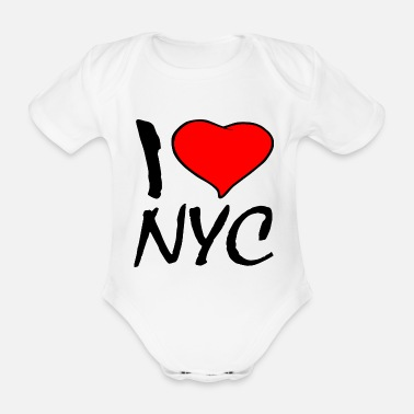 Ny NEW YORK - Organic Short-Sleeved Baby Bodysuit
