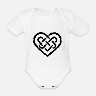 Endless Celtic heart symbol infinity endless - Organic Short-Sleeved Baby Bodysuit