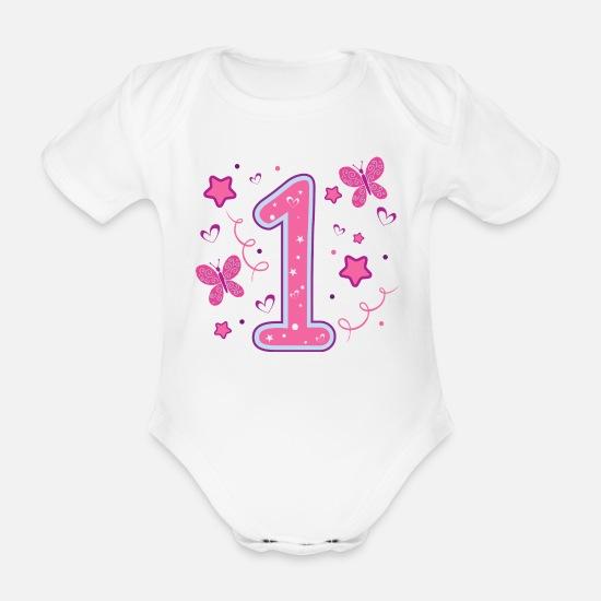 Kurzarm Baby-Body Geburtstag Ich bin schon 1 Jahr Eins Geschenk Strampler