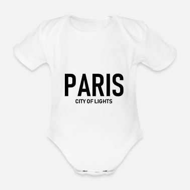 French Flag Paris - City of Lights - France - France - Organic Short-sleeved Baby Bodysuit