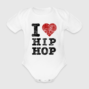 Hip-hop i_love_hiphop02_vintage - Body bébé bio manches courtes