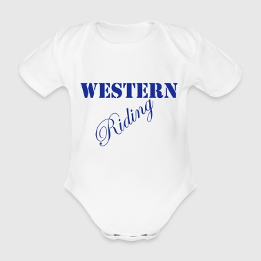 Western Riding - Organic Short-sleeved Baby Bodysuit