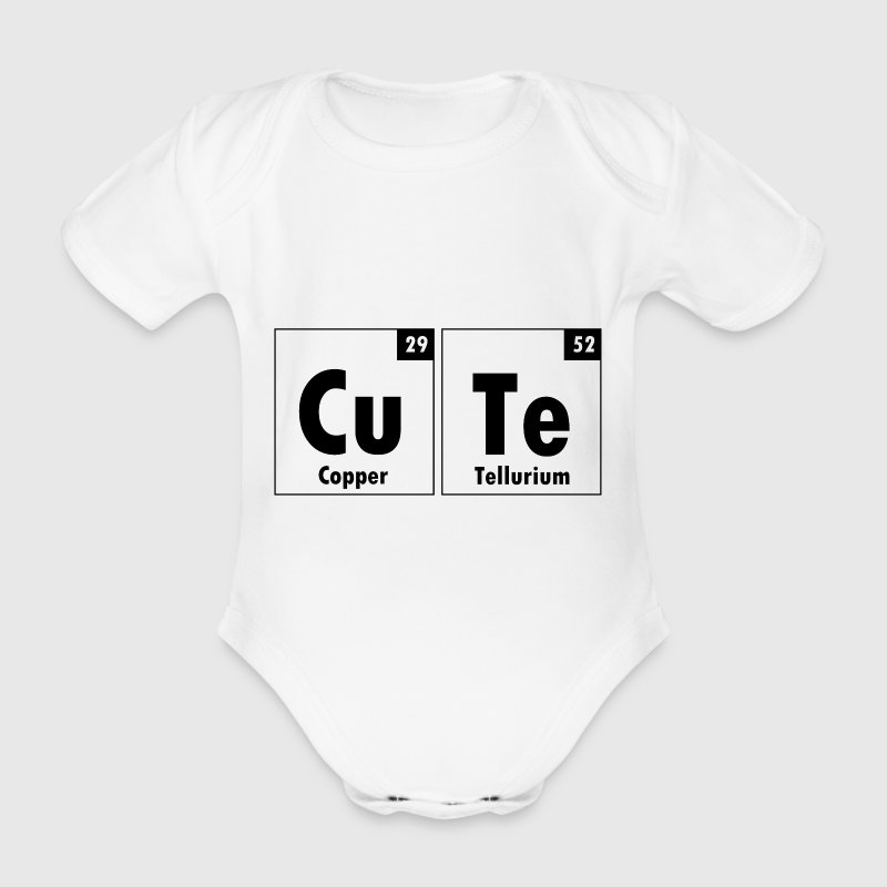 The Element Of Cute - Organic Short-sleeved Baby Bodysuit