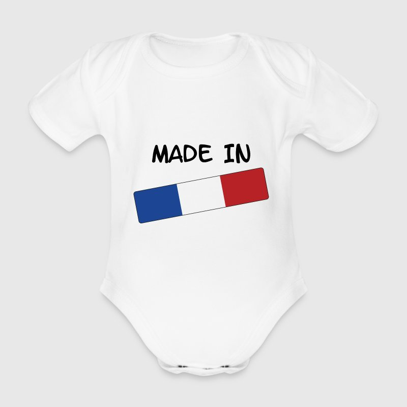 Made in FRANCE ! - Body bébé bio manches courtes
