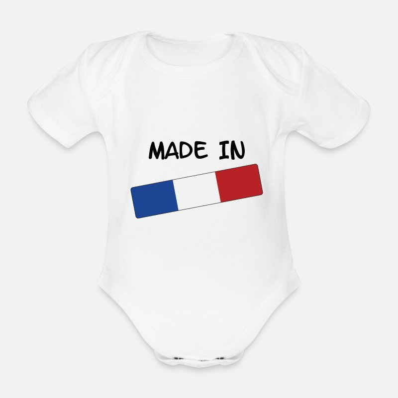 Made In France Vêtements Bébé - Made in FRANCE ! - Body manches courtes Bébé blanc