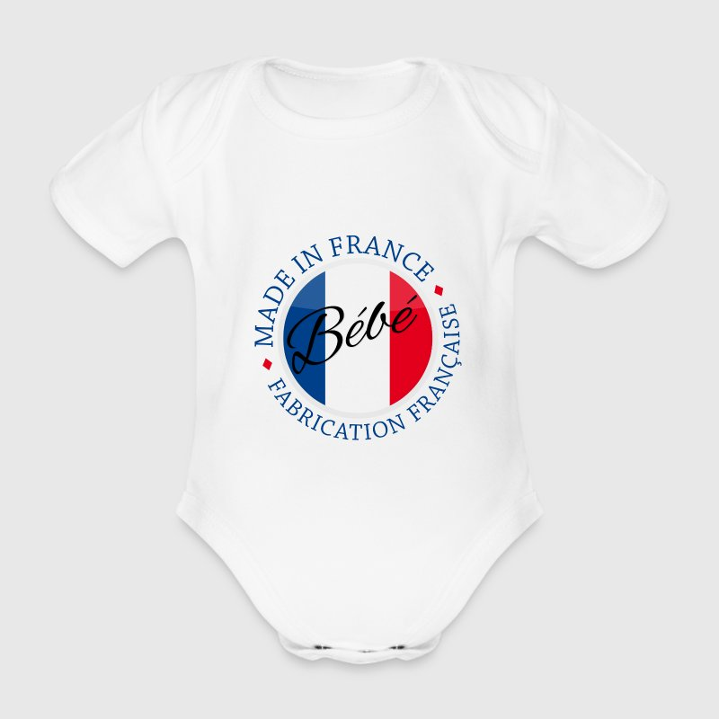 bebe made in france  - Body bébé bio manches courtes
