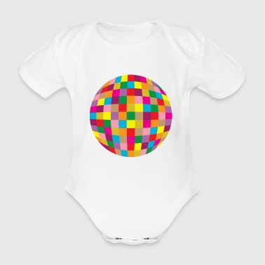 Disco ball - Organic Short-sleeved Baby Bodysuit