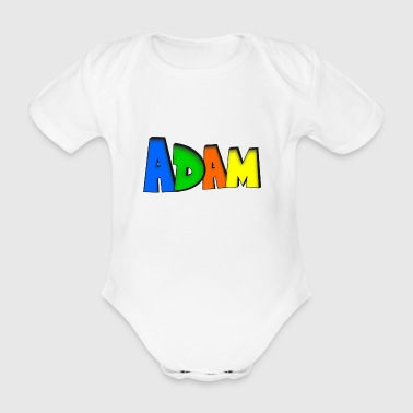 Adam - Organic Short-sleeved Baby Bodysuit