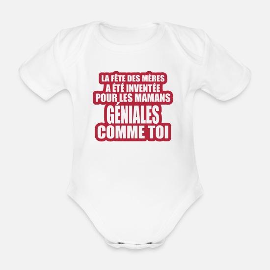 700ee9cda005b Fête Vêtements Bébé - la fête des mères - Body Bébé bio manches courtes  blanc