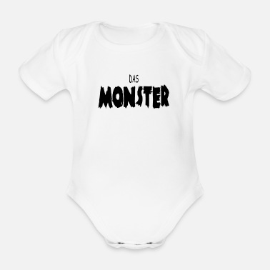 Monster Das Monster - Baby Bio-Kurzarm-Body